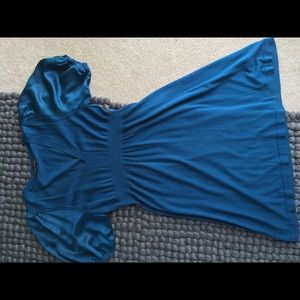 BCBGMaxAzria Dresses - EUC BCBG Maxazaria teal dress, large